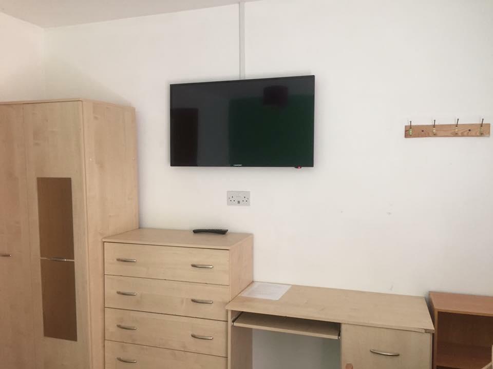 bedroom with tv. NameSwansea-student-bedroom-with-TV.jpg Bedroom With Tv